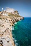 Gibraltar jak Widzieć od Europa punktu Fotografia Royalty Free