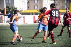 Gibraltar Kołysa filiżanka Kwartalnych finały Machester 62 (0) - futbol - Obrazy Stock