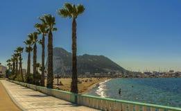 Gibraltar, La Linea de la Concepcion and the Poniente beach Royalty Free Stock Image