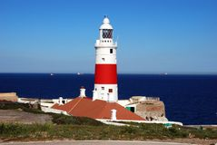 Gibraltar lighthouse. Royalty Free Stock Photo