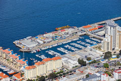 Marina in Gibraltar City Stock Images