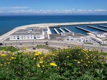 Gibraltar Mediterranean Sea. Detroit  of Gibraltar Mediterranean Sea Royalty Free Stock Photo