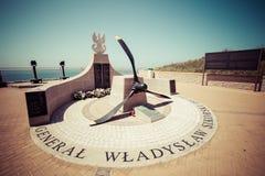 16,2015 Gibraltar-mei: het monument aan Poolse Algemene Sikorski, stierf Royalty-vrije Stock Foto