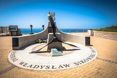 16,2015 Gibraltar-mei: het monument aan Poolse Algemene Sikorski, stierf Stock Afbeelding