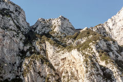 Gibraltar mountains Royalty Free Stock Image
