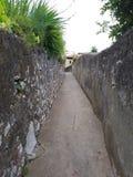 Gibraltar nice and small passageway stock photo