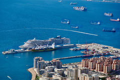 gibraltar panorama- sikt Royaltyfri Foto