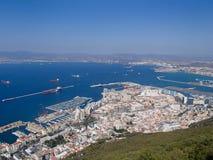 Gibraltar pasa por alto Fotos de archivo
