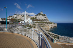 Gibraltar, points of interest in the British overseas area on the southern spit of the Iberian Peninsula,. Gibraltar, southern tip of the peninsula, `Europa royalty free stock images