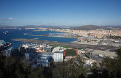 Gibraltar, points of interest in the British overseas area on the southern spit of the Iberian Peninsula, Royalty Free Stock Image