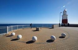 Gibraltar, pontos do interesse na área ultramarina britânica no cuspe do sul da península ibérica, Fotografia de Stock