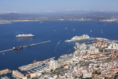 gibraltar port Royaltyfria Foton