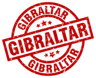 Gibraltar red round stamp Stock Photography