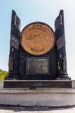 GIBRALTAR, REINO UNIDO - CIRCA 2016: Los pilares famosos del monumento de Hércules en Gibraltar imagen de archivo