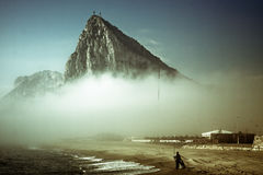 gibraltar rock Arkivbilder