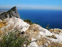 Gibraltar rock Stock Photo
