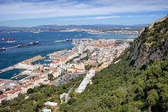 Gibraltar Rock City and Bay Royalty Free Stock Photo