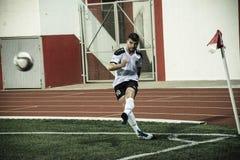 Gibraltar Rock Cup Quarter Finals -  football - Europa 2-0 Europa Point Stock Photo