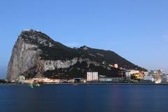 Gibraltar The Rock skyline at night Stock Photography