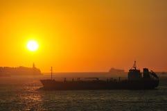 Gibraltar rock in sunset Royalty Free Stock Photo