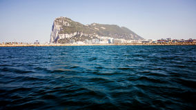 Gibraltar Rock view from the sea Royalty Free Stock Images