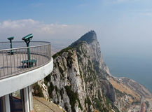 Gibraltar Rock & Viewing platform Royalty Free Stock Images