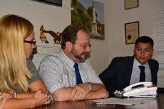 Gibraltar rząd wszczyna kidzone środowiskową świadomość Fotografia Royalty Free