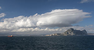 Gibraltar's East face Stock Images