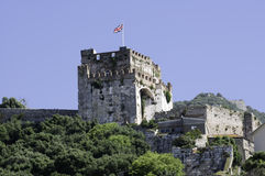 Gibraltar's Moorish Castle Stock Images