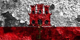 Gibraltar-Schmutzflagge, britische Überseegebiete, Großbritannien dep Stockfotos