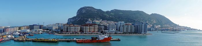 Gibraltar from the Sea Stock Photo