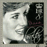 GIBRALTAR - 2007 : shows Diana (1981-1997), Princess of Wales Tribute Royalty Free Stock Photos