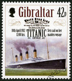 GIBRALTAR - 2012: shows Set sail on her maiden voyage, 10th april 1912, series Titanic Centenary 1912-2012 Royalty Free Stock Photography