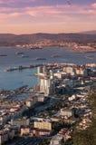 Gibraltar sieht Ostseite an Stockbilder