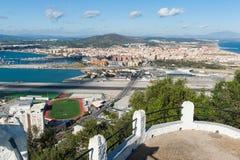Gibraltar Spanien gräns Fotografering för Bildbyråer