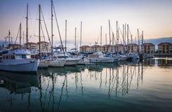 Gibraltar stad, Gibraltar, UK Arkivbilder