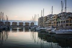 Gibraltar stad, Gibraltar, UK Royaltyfria Bilder