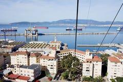Gibraltar-Stadt und Schacht Lizenzfreie Stockbilder