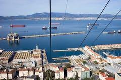 Gibraltar-Stadt und Schacht Lizenzfreie Stockfotos