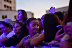 Gibraltar Summer Nights. Gibraltar - 4th August 2015 - Former X-Factor contestants 4th Impact performed at the annual Gibraltar Summer Nights to a packed Stock Images