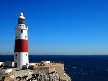 Gibraltar Trinity Lighthouse Royalty Free Stock Photos