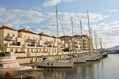 Gibraltar-Ufergegend-Jachthafen Lizenzfreie Stockbilder