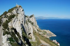 Gibraltar upper rock nature reserve top (East) Royalty Free Stock Photos
