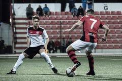 Gibraltar vaggar koppfjärdedelfinaler - fotboll - Manchester 62 0 Royaltyfria Bilder