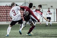 Gibraltar vaggar koppfjärdedelfinaler - fotboll - Manchester 62 0 Royaltyfri Foto