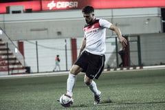 Gibraltar vaggar koppfjärdedelfinaler - fotboll - Manchester 62 0 Fotografering för Bildbyråer