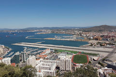 Gibraltar. View from the Rock of Gibraltar. Royalty Free Stock Image