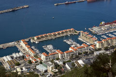 Gibraltar. View of the yachts Stock Images