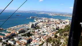 Gibraltar vom Aufzug Lizenzfreies Stockbild