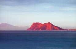 Gibraltar wschód słońca Zdjęcie Royalty Free